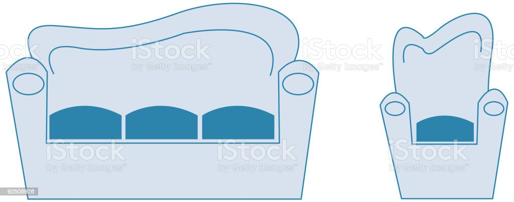 Sofas royalty-free stock vector art