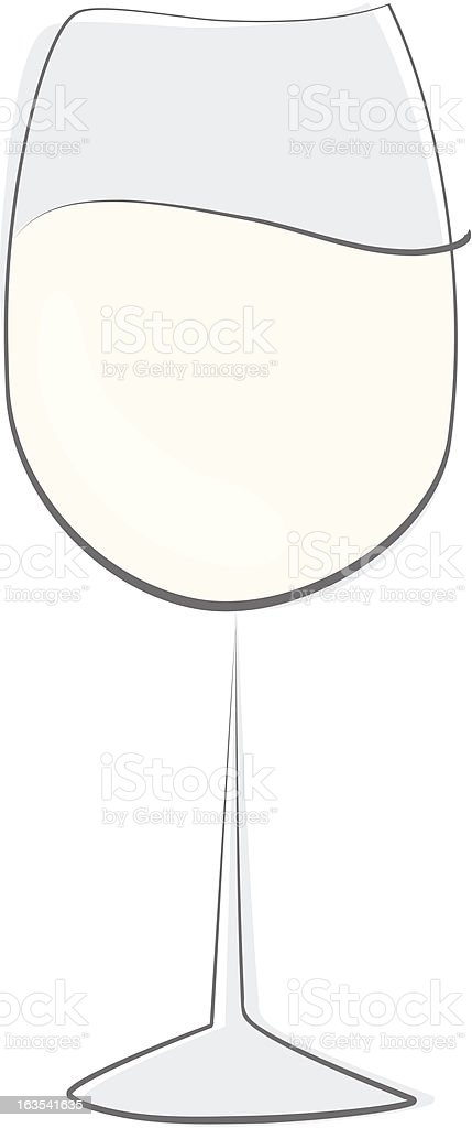 Soft Color Wine Glass royalty-free stock vector art
