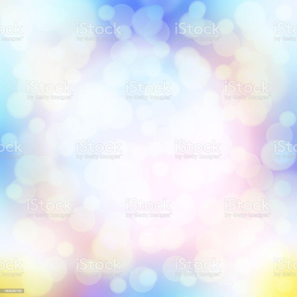 soft colorful bokeh background vector art illustration