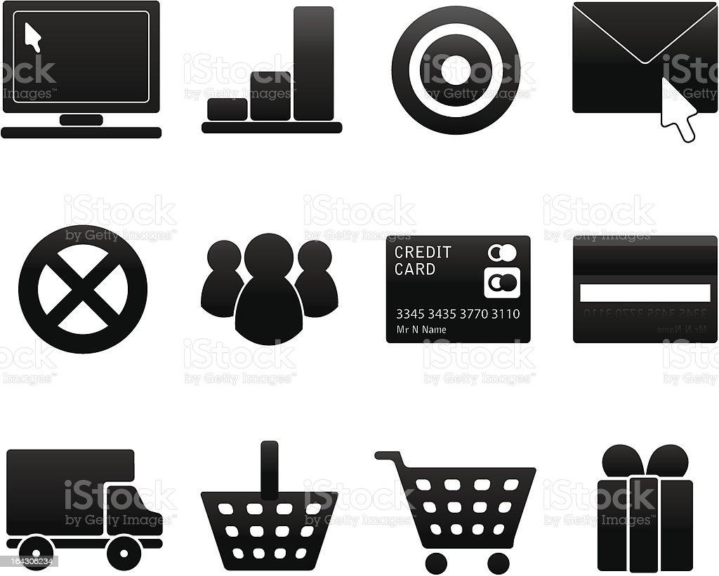 Doux icônes foncé stock vecteur libres de droits libre de droits