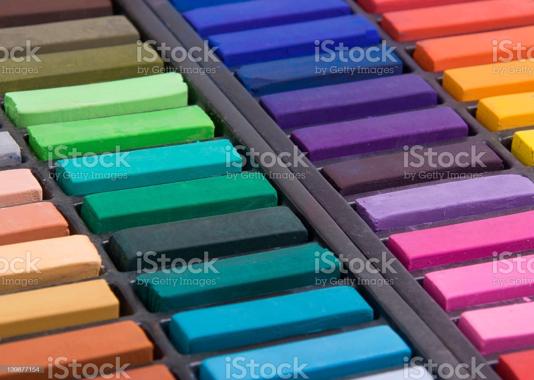 Soft pastels close up royalty-free stock vector art