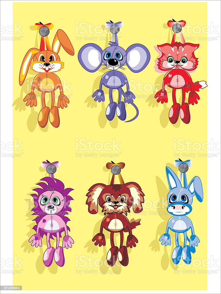 soft toys royalty-free stock vector art