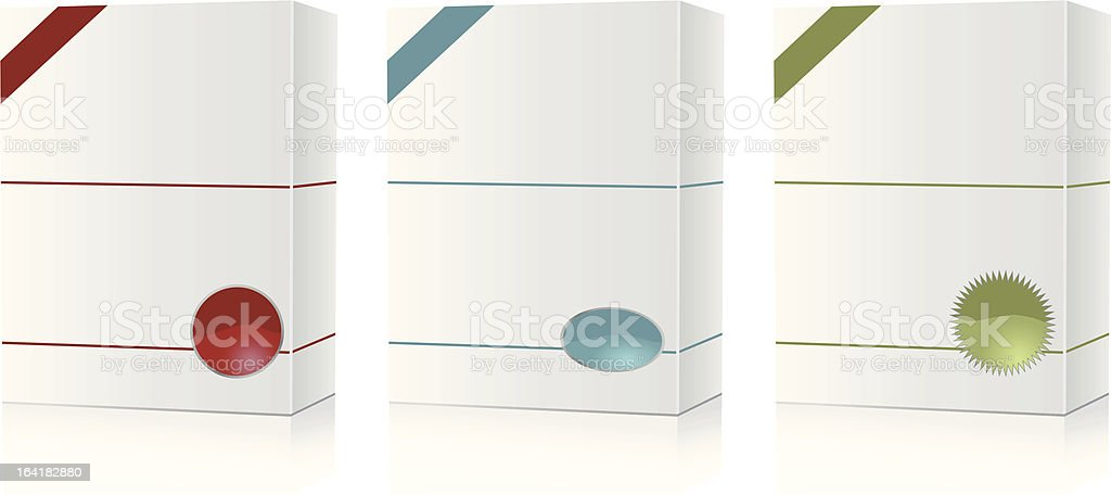 Software boxes. royalty-free stock vector art