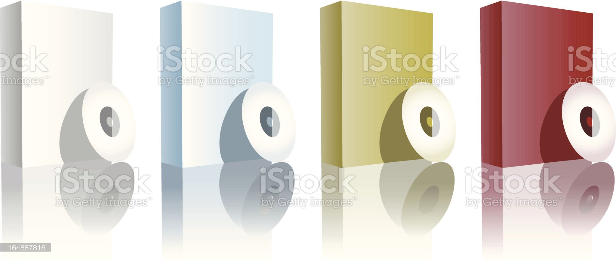 Software boxes royalty-free stock vector art