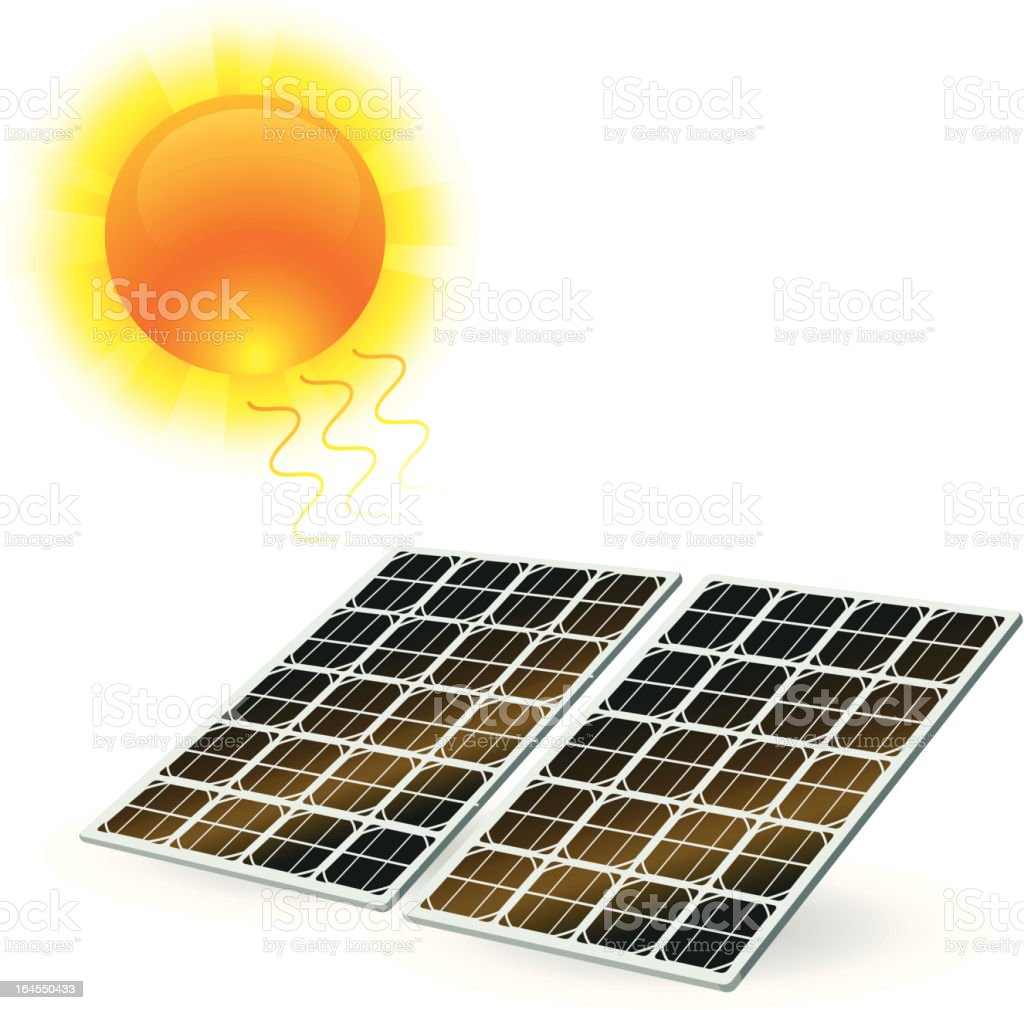 Solar Power vector art illustration
