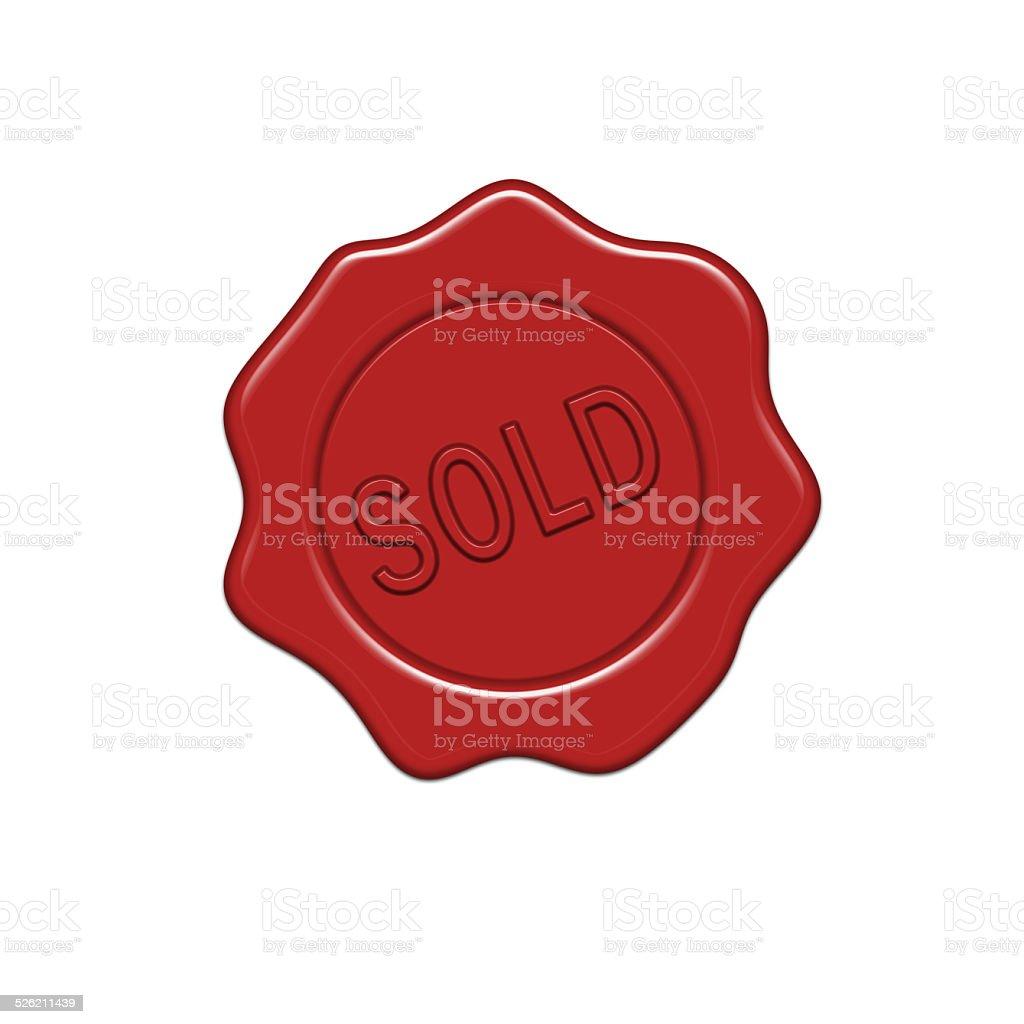Sold wax seal. vector art illustration