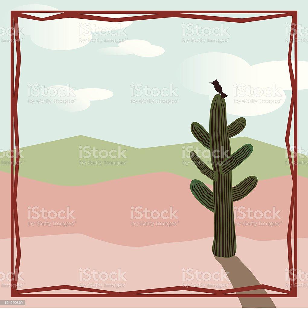 Solitary Desert Bird royalty-free stock vector art