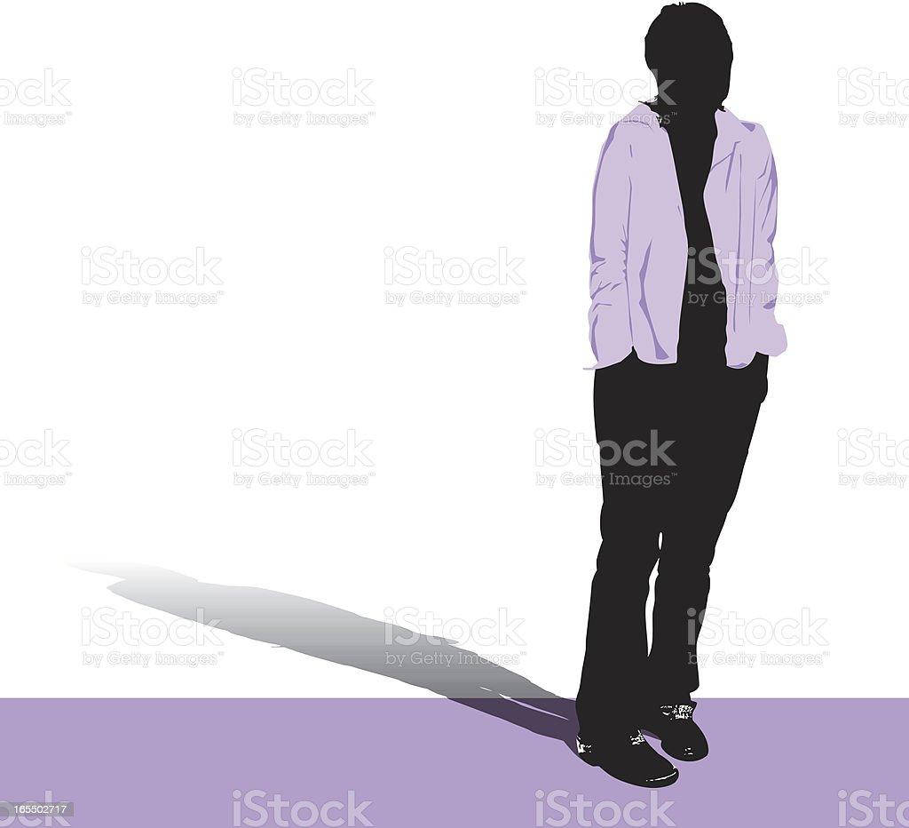 Solitary Silhouette vector art illustration