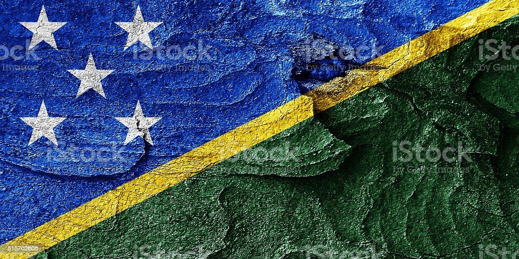 Solomon islands flag vector art illustration
