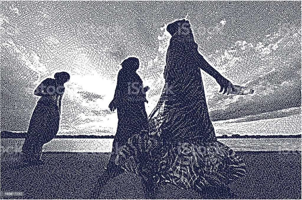 Somali Women royalty-free stock vector art