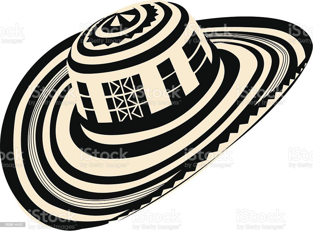Sombrero Volteado vector art illustration