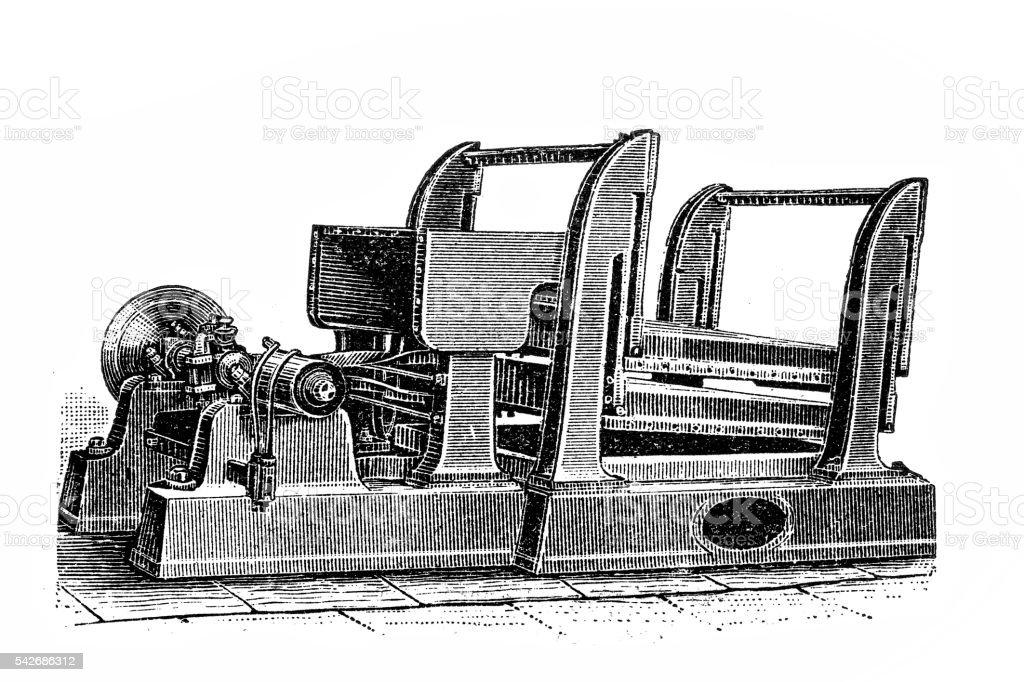 Sorting apparatus vector art illustration