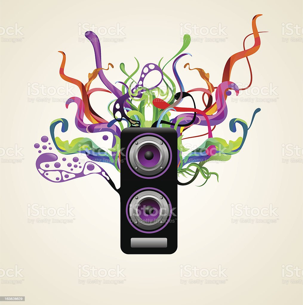 sound royalty-free stock vector art