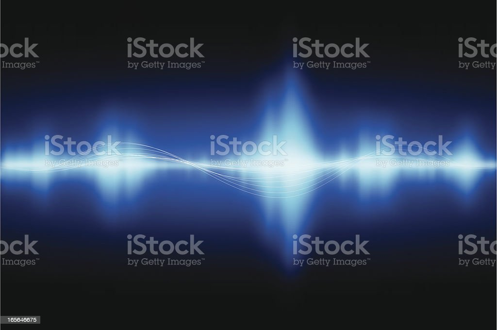 Sound waves vector art illustration
