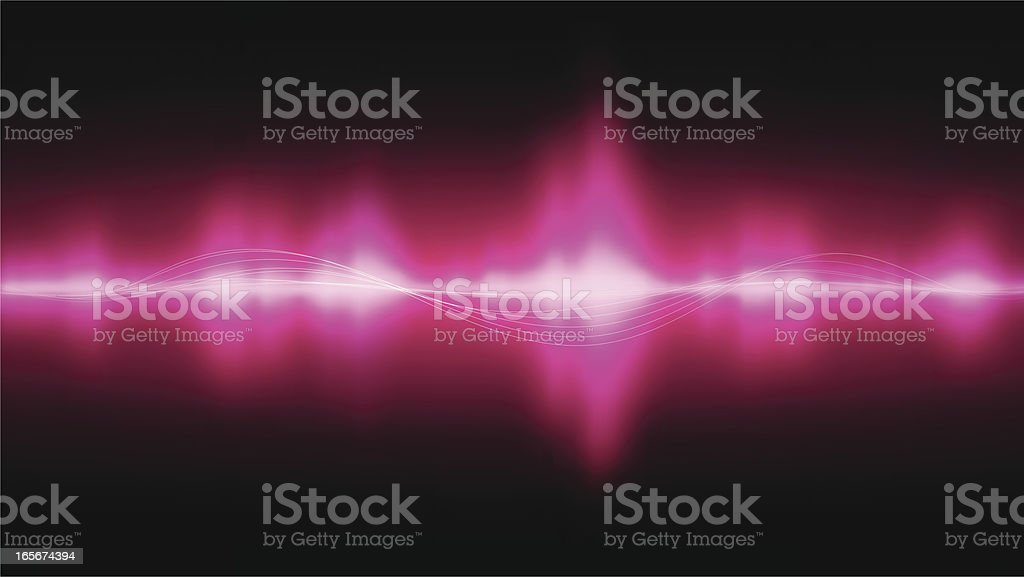Sounds waves vector art illustration