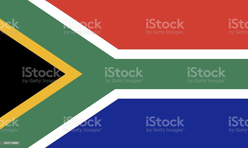south african flag vector art illustration