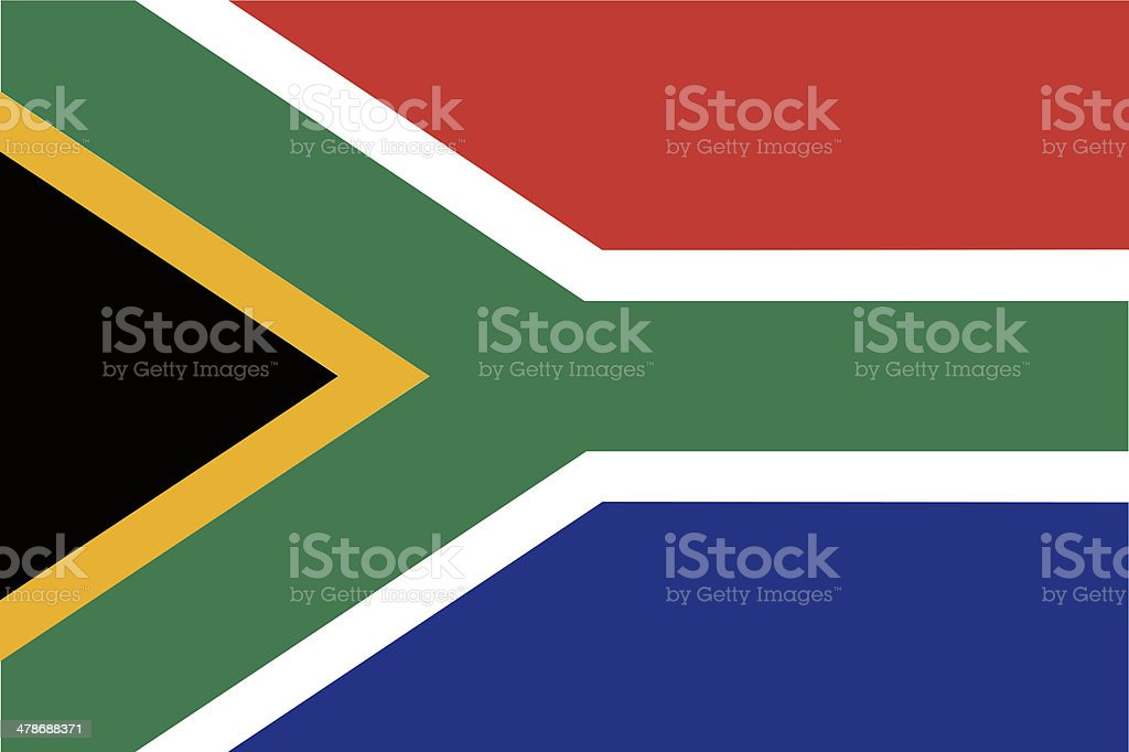 South African flag. vector art illustration