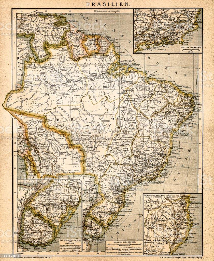 South America map vector art illustration