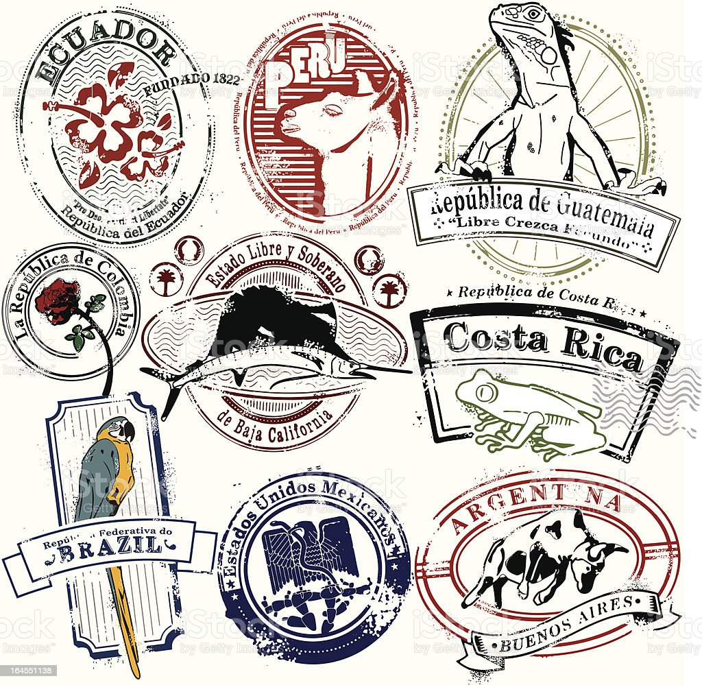 South of El Norte vector art illustration