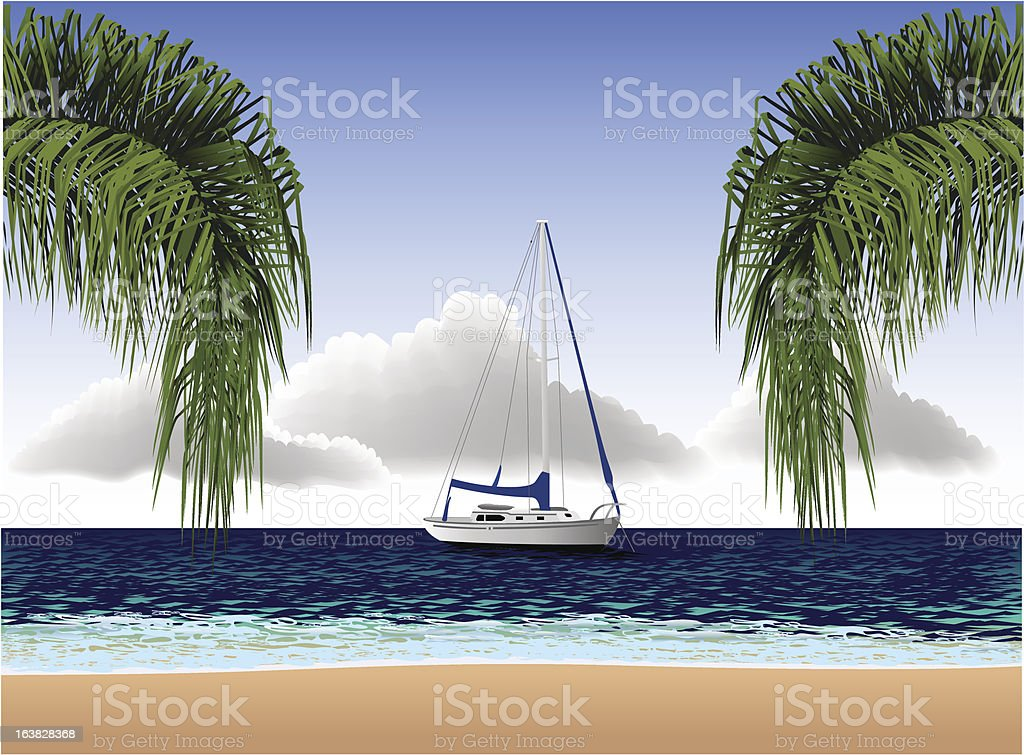 South Pacific vector art illustration