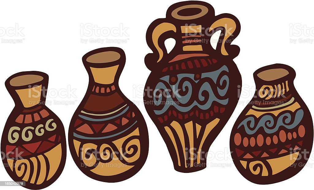 South West Pottery royalty-free stock vector art