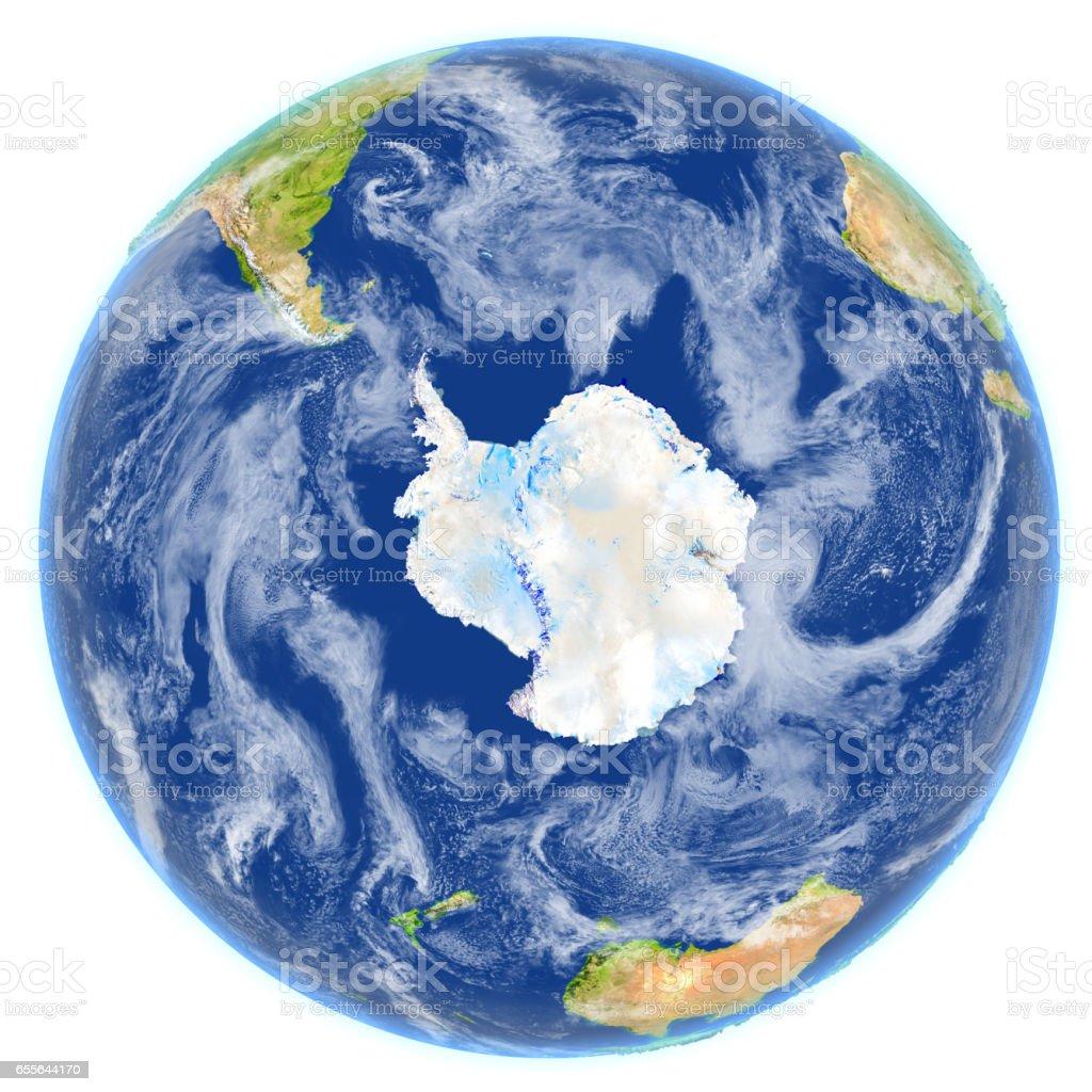 Southern Ocean on planet Earth vector art illustration