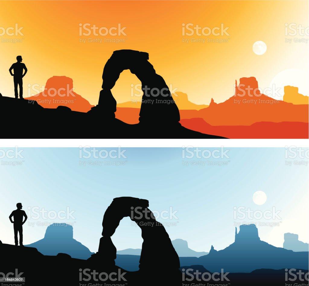 Southwest Scenics vector art illustration