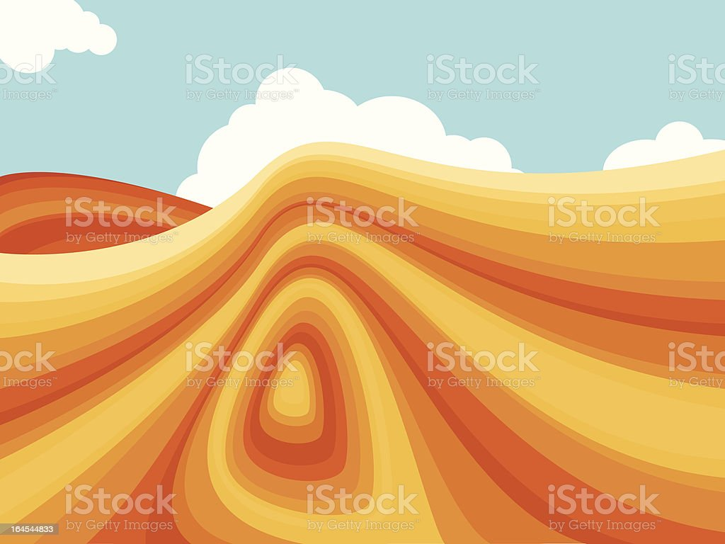 Southwestern Terrain royalty-free stock vector art