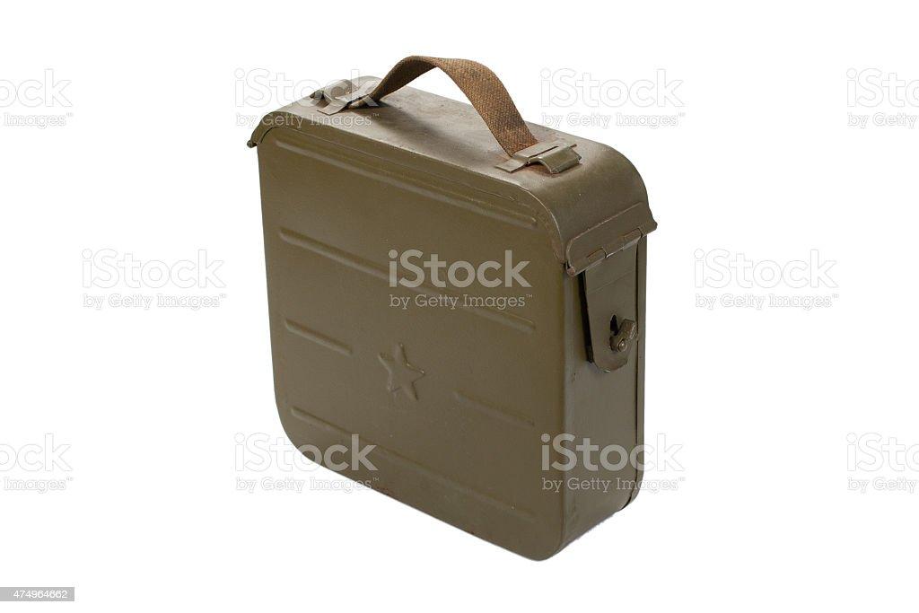 soviet ammo case on white background vector art illustration