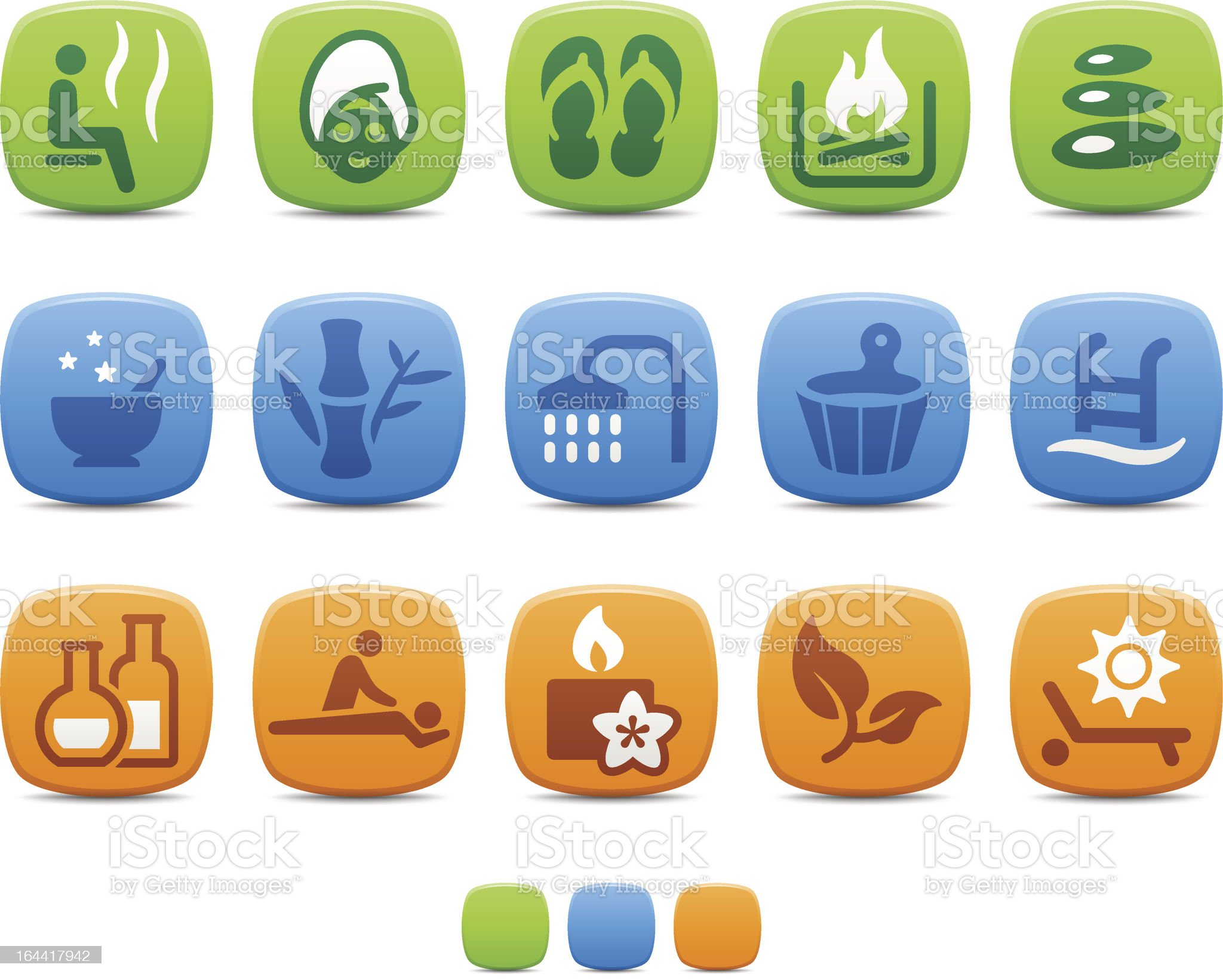 Spa and Wellness icons royalty-free stock vector art