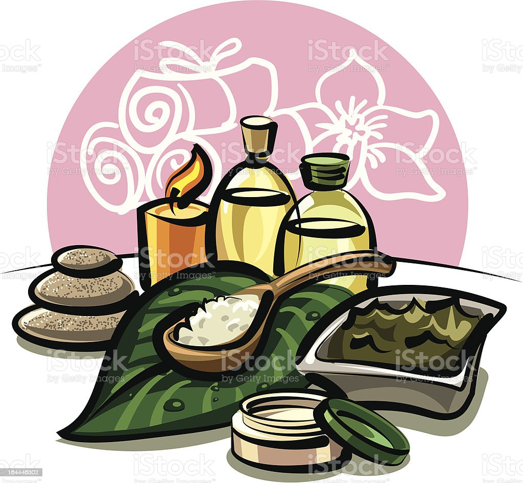 spa products royalty-free stock vector art