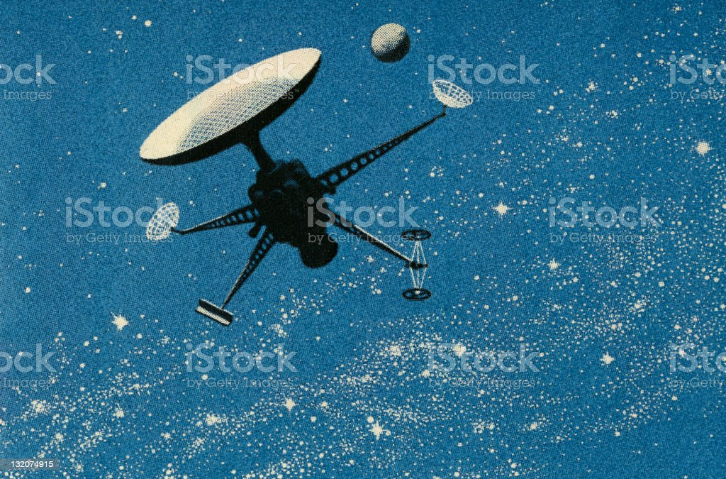 Space Satellite royalty-free stock vector art