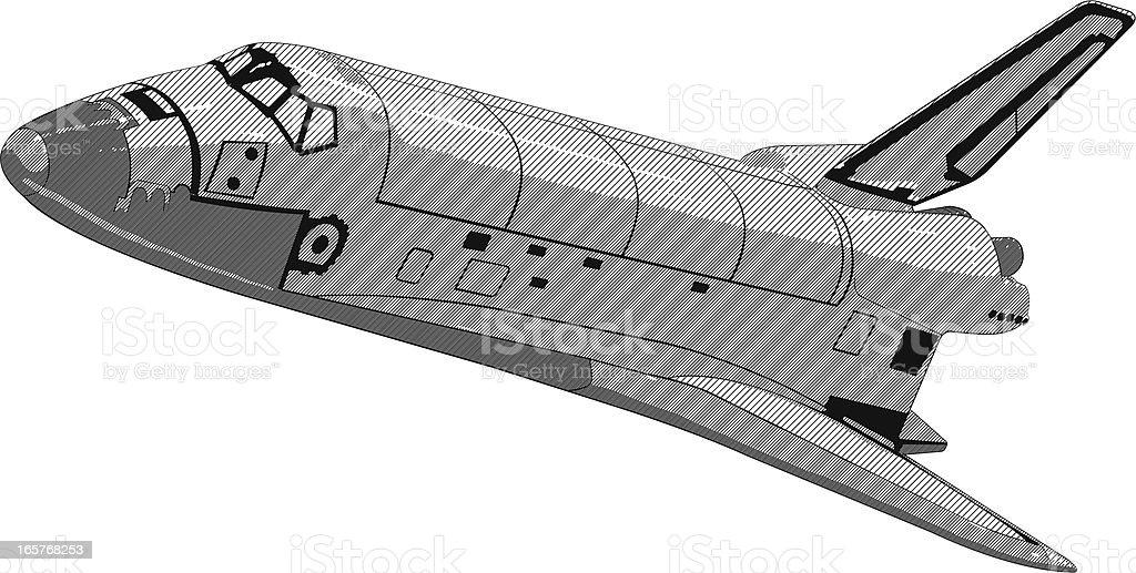 Space ship illustration royalty-free stock vector art