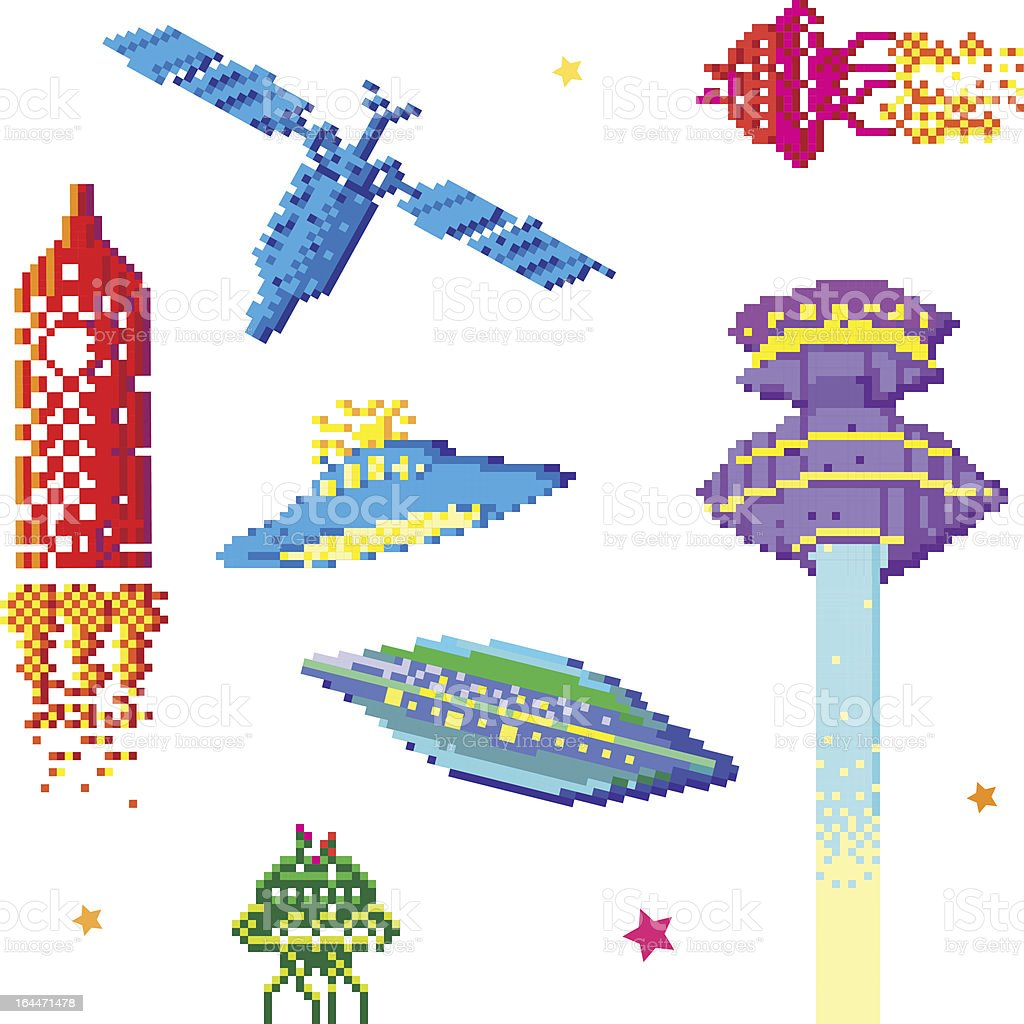 space ships royalty-free stock vector art