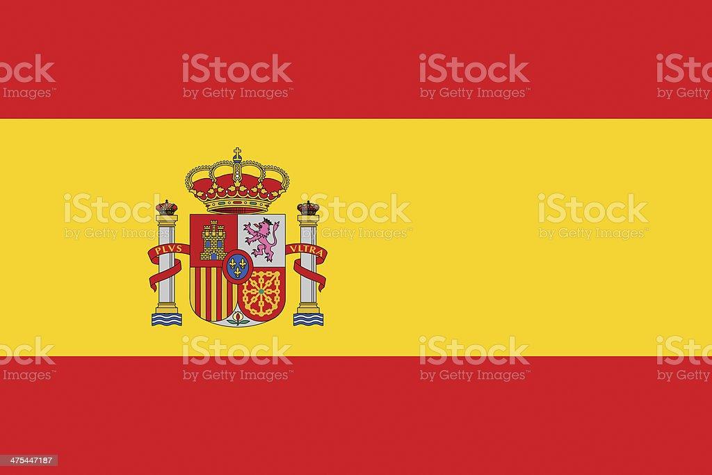 Spain Flag vector art illustration
