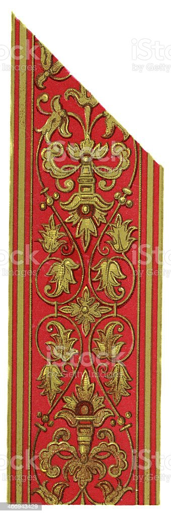Spanish Embroidery Design 16th Century royalty-free stock vector art