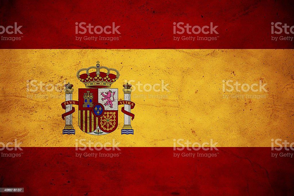Spanish Flag vector art illustration