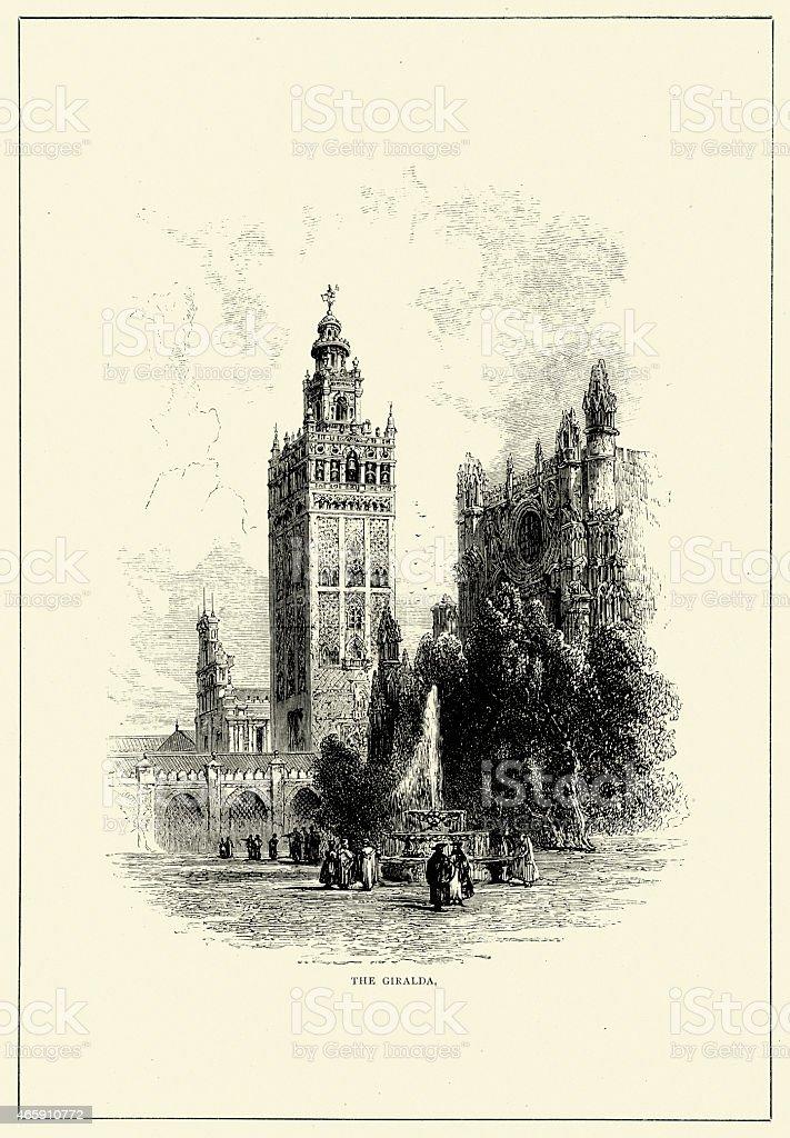 Spanish Pictures - Giralda, Seville vector art illustration