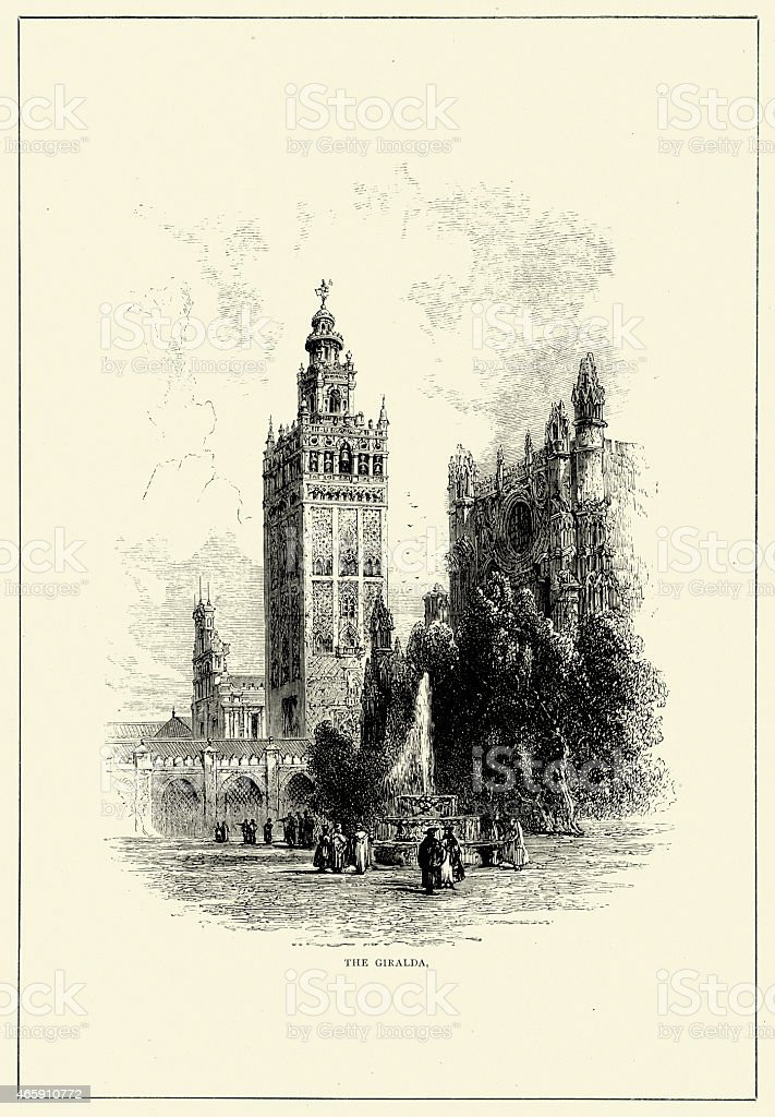 Spanish Pictures - Giralda, Seville vector art illustration