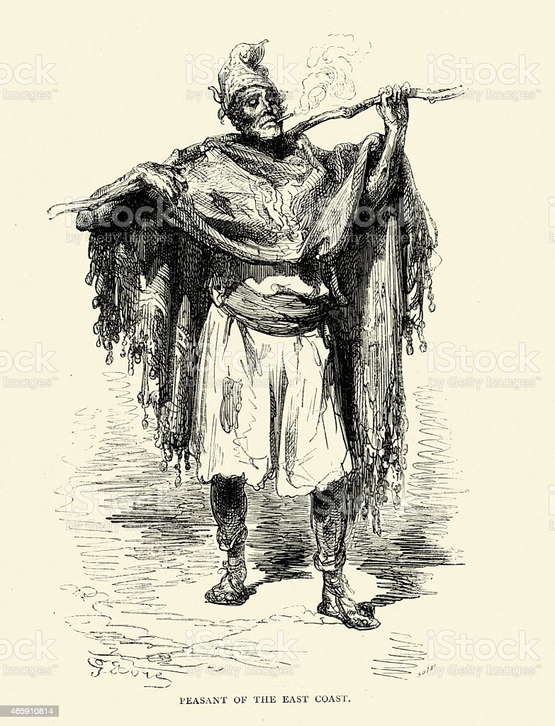 Spanish Pictures - Peasant of the East Coast of Spain vector art illustration
