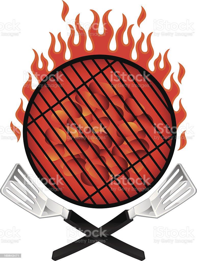 spatula crest royalty-free stock vector art