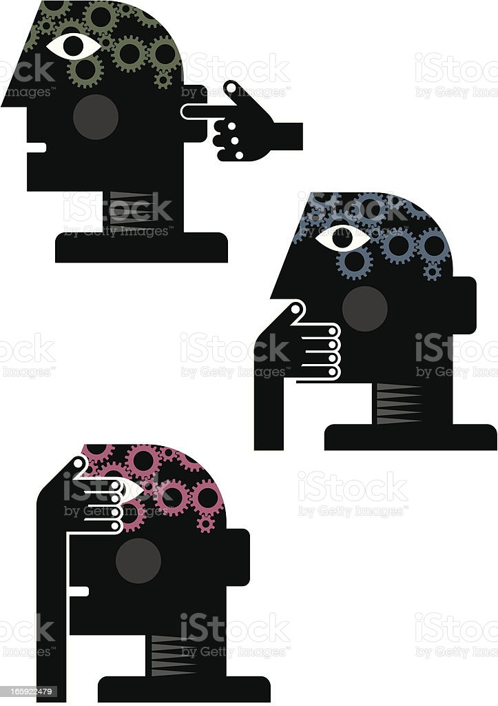 Speak no evil vector art illustration
