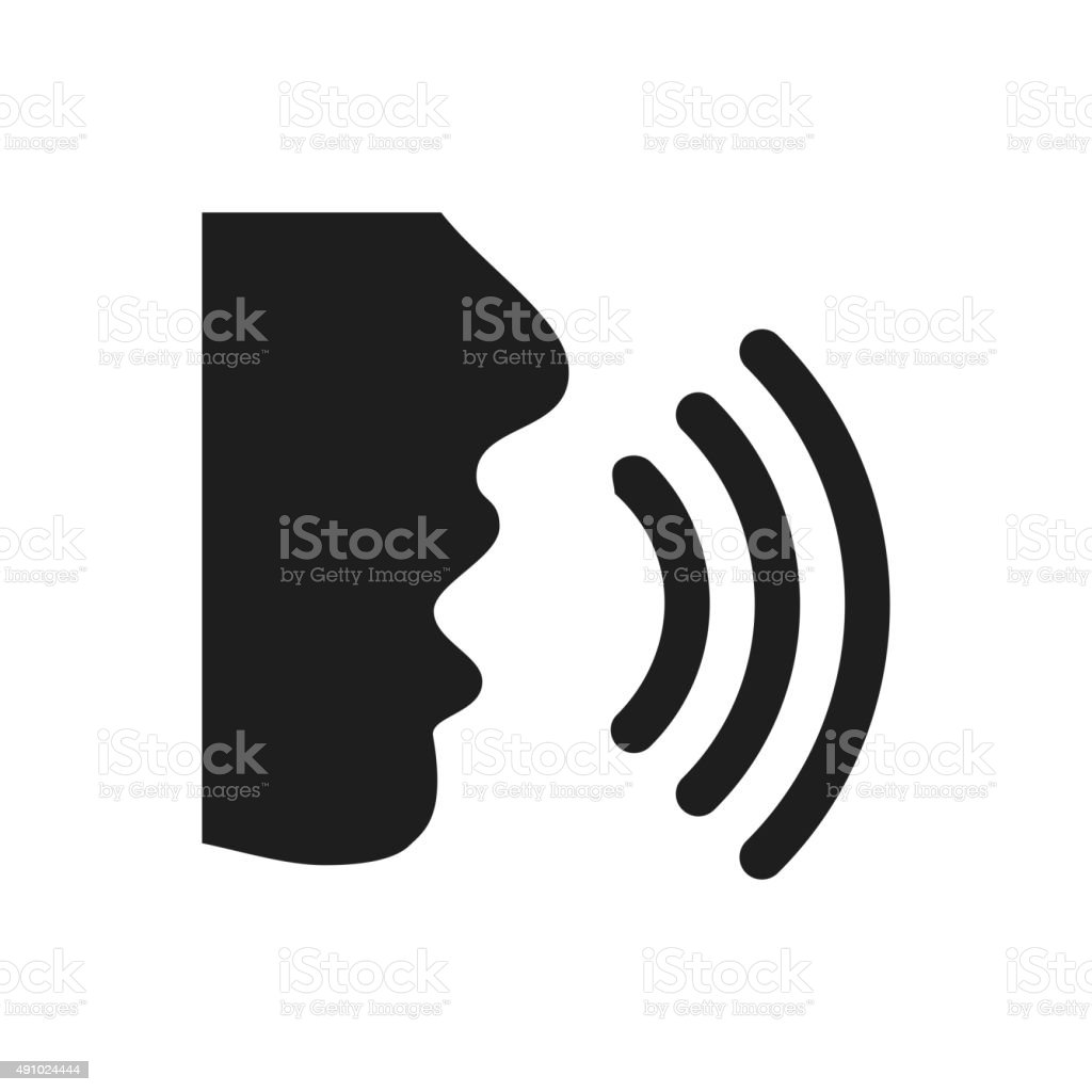 Speaking icon on a white background. - SingleSeries vector art illustration