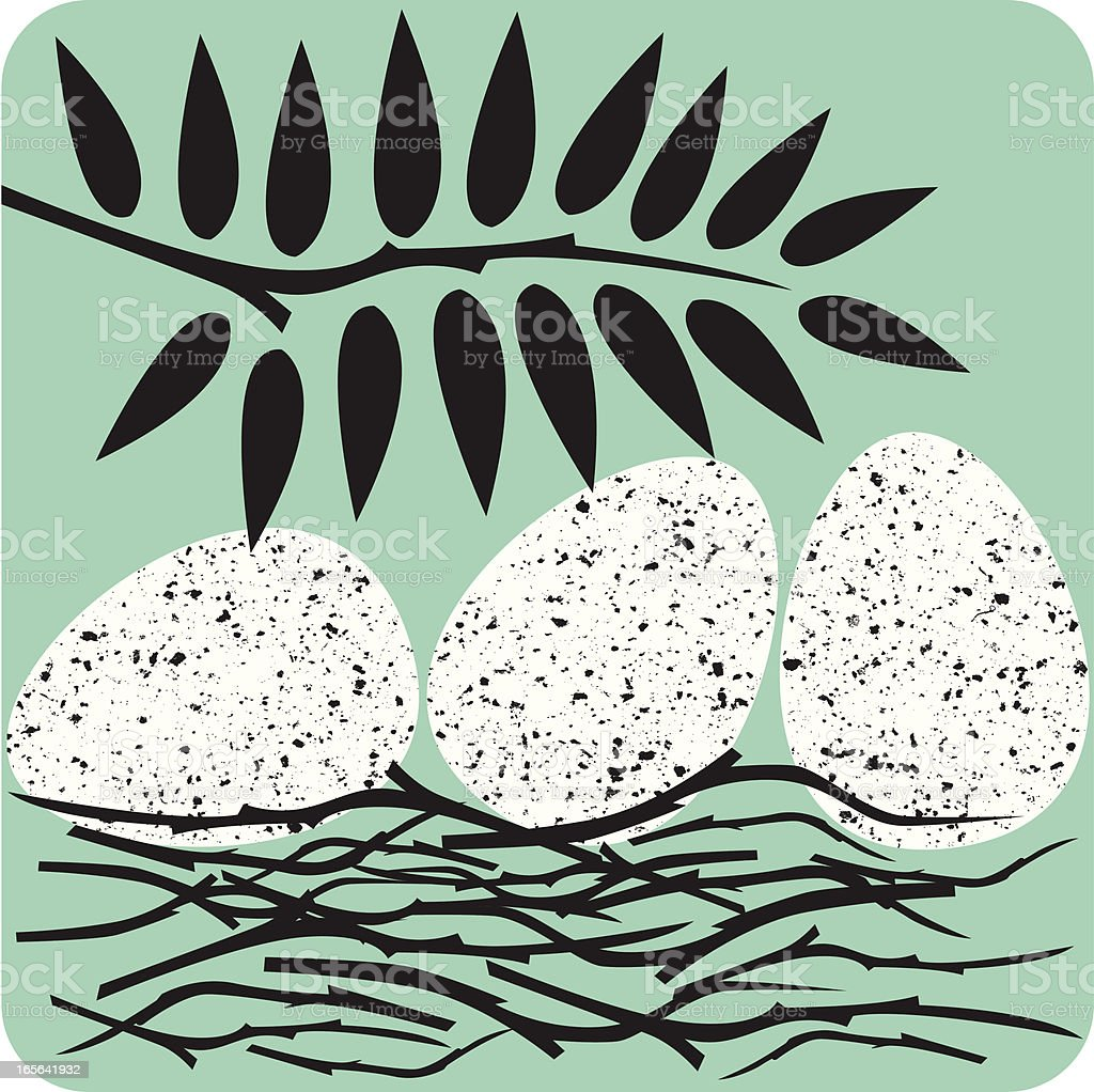 speckled eggs royalty-free stock vector art