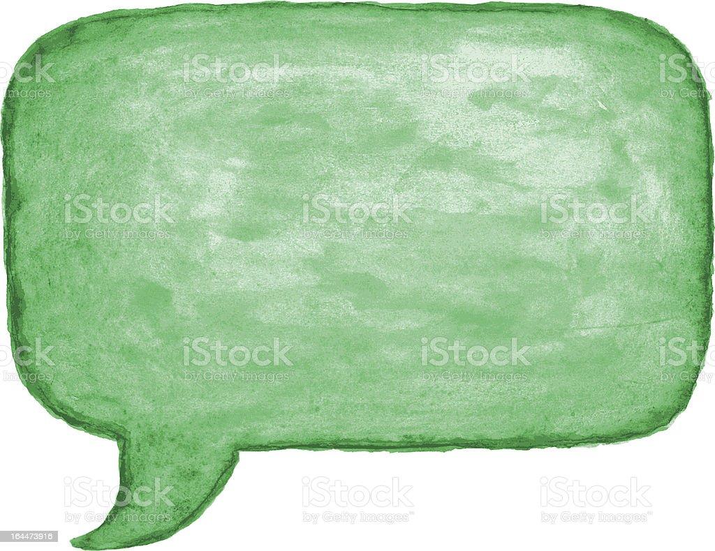 Speech bubble. 1 credits royalty-free stock vector art