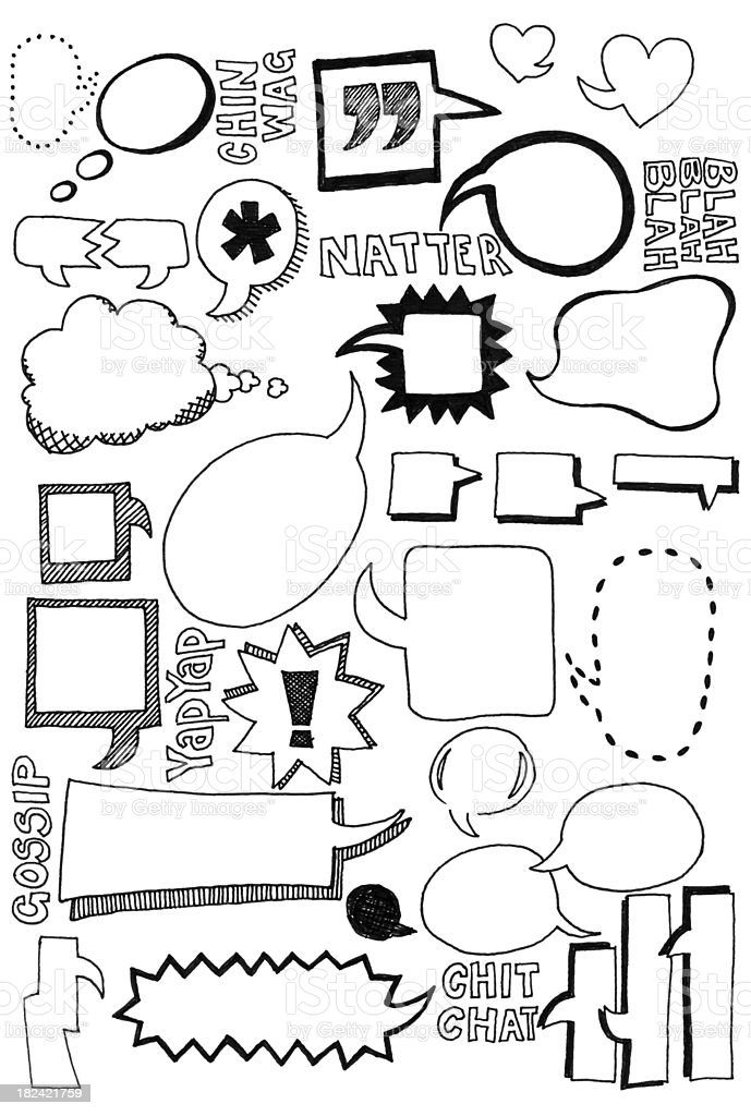 Speech bubble doodles royalty-free stock vector art