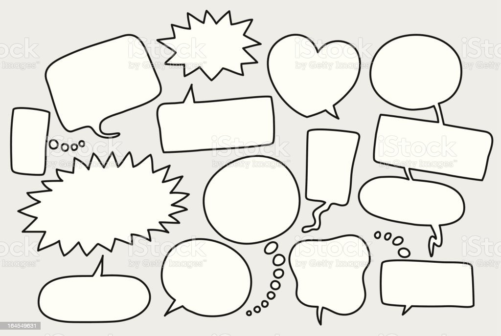 speech bubbles cartoon royalty-free stock vector art