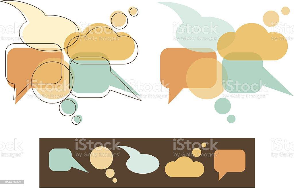 Speech Bubbles royalty-free stock vector art