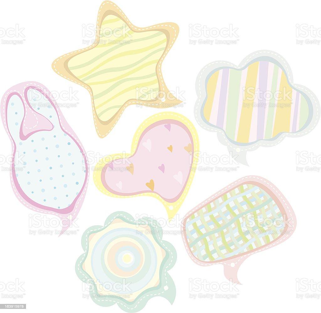 Speech bubbles illustration set (baby style) royalty-free stock vector art