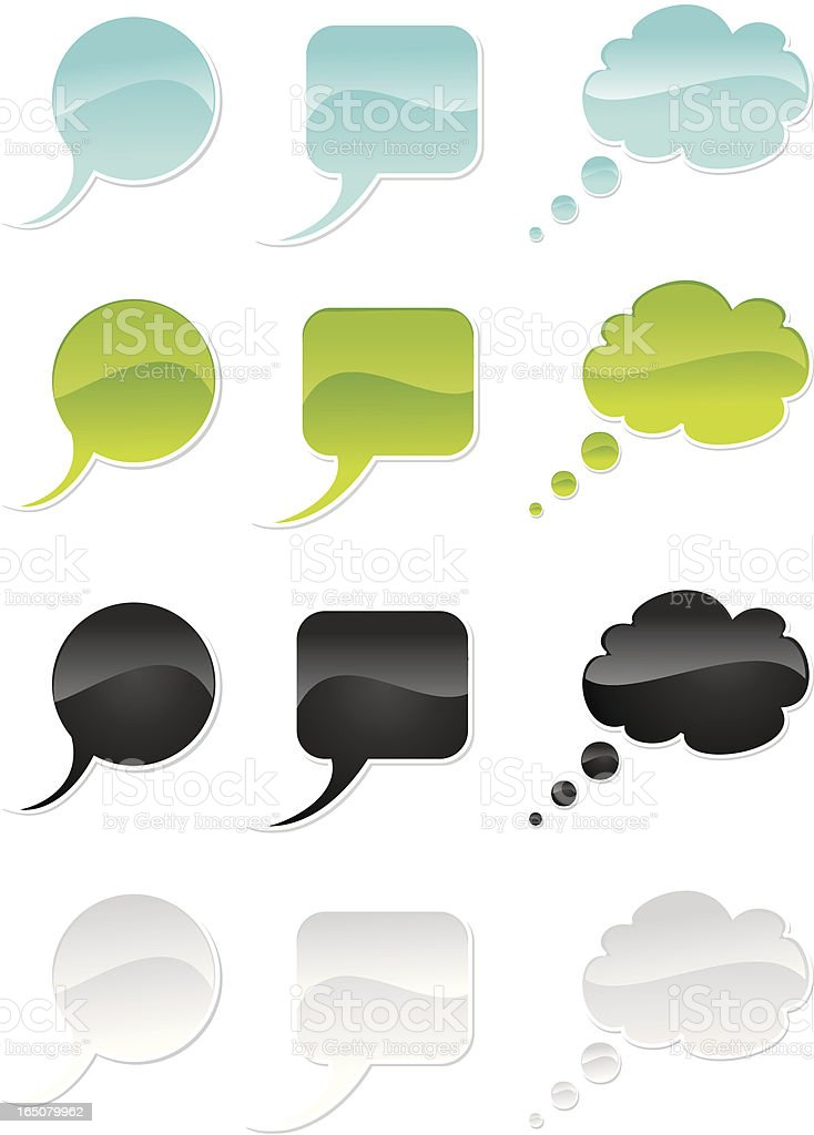 Speech Buttons royalty-free stock vector art